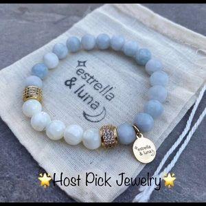 🌟Host Pick🌟matte agate boho bracelet